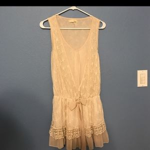 A'reve Cream lace dress/long top